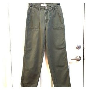 FADED GLORY 6 Khaki Green Hiking High Waist Pants